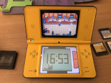 Consola nintendo ds xl galben cu 6 jocuri + husa originala