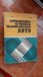 EXPLOATAREA SI TEHNICA TRANSPORTULUI AUTO / SALAJAN ,NAGY