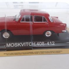 macheta moskvitch 408-412 + revista masini de legenda nr.10 - 1/43, noua.