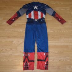 Costum carnaval serbare captain america pentru copii de 6-7 ani, Din imagine