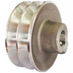 Fulie dubla motor generator, motopompa, motocultor 5-7CP (ax 19 mm, diametru...