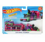 Set camion si masina sport, Hot Wheels Car-nival Steamer
