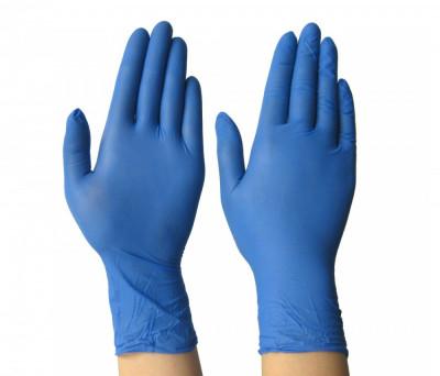 Manusi din Nitril de Unica Folosinta, Marime M, Culoare Albastru, cutie 100 buc foto
