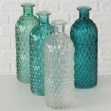 Vaza decorativa din sticla Hudson Multicolor, Modele Asortate, Ø6,5xH20 cm