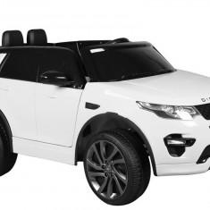 Masinuta electrica Land Rover, alb