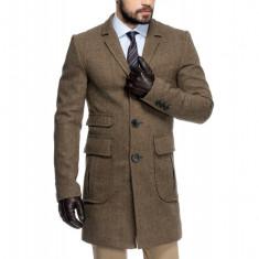 Palton Barbati Maro Smart Casual Lung din Tweed B125 Bra