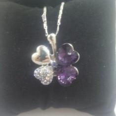 Colier 4-Hearts Purple Swarovski
