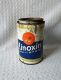 Cutie veche de vopsea Linoxin, cutie din tabla de colectie - Epoca de aur