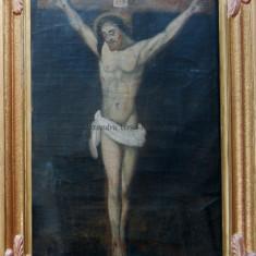 """Tablou vechi """"Isus răstignit"""""""
