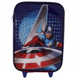 Troler mare Captain America The Avengers Marvel, pentru copii, 46x31x15 cm, Multicolor