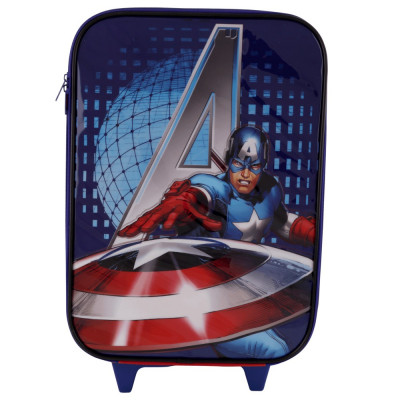 Troler mare Captain America The Avengers Marvel, pentru copii, 46x31x15 cm, Multicolor foto