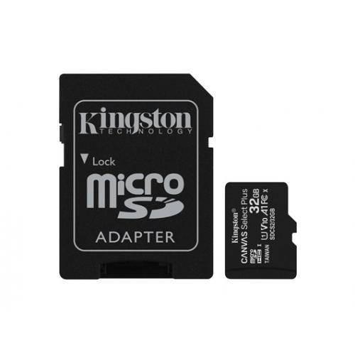 Card de memorie Kingston Canvas Select Plus 100R A1 32GB SDXC Clasa 10 + Adaptor SD