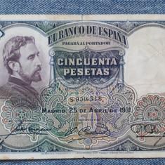 50 Pesetas 1931 Spania