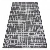 Covor SISAL SION Spalier, linii 22144 țesute plate negru / ecru, 120x170 cm