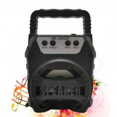 Boxa Portabila 25W MS-1601BT cu Radio FM, lumini si maner