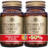 Vitamina D3 2200IU 50Cps Pachet 1+1-50%