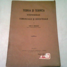 TEORIA SI TEHNICA INTREPRINDERILOR COMERCIALE SI INDUSTRIALE - VIRGIL N. MADGEARU