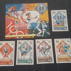 Romania 1996-LP 1416,,1417-Centenar J.O.Atlanta,s+c,,nestampilate,MNH, Istorie, Nestampilat