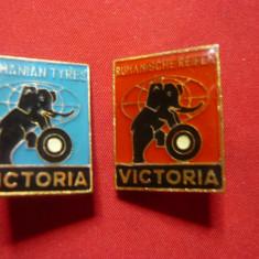 2 Insigne -Intreprinderea Victoria - Anvelope Romania
