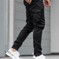Pantaloni jogger cargo bărbați negri Bolf 0705