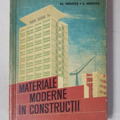 MATERIALE MODERNE IN CONSTRUCTII de AL. NEGOITA si S. NEGOITA , 1963