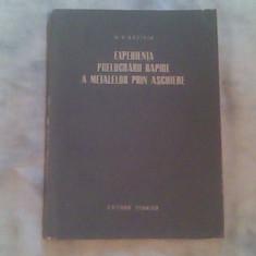 Experienta prelucrarii rapide a metalelor prin aschiere-M.V.Savirin