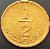 Moneda 1/2 SOL DE ORO - PERU, anul 1976   *Cod 1509, America Centrala si de Sud