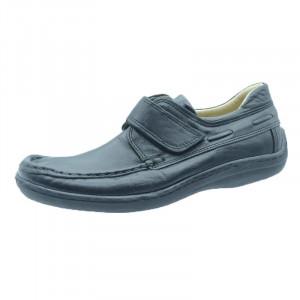 Mocasini piele baieti Majestic Shoes SSBM-38, Negru