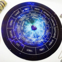 Placa pendul Astrologie + cadou ametist,cuart roz,cristal de stanca