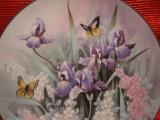 FARFURIE DECORATIVA PORTELAN KNOWLES FINE CHINA BRADEX SEMNAT - TOPAZ BEAUTIES