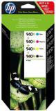 Pachet cu 4 cartuse cerneala HP 940XL (Negru + Cyan + Magenta + Galben)