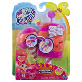 Set figurine papusa si animalut misterioase si parfumate Posie Peach Candy Locks