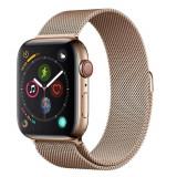 Curea smartwatch Devia Elegant Series Milanese Loop Gold pentru Apple Watch 38mm / 40mm