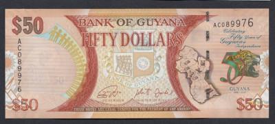 A3456 Guyana 50 dollars 2016 UNC foto
