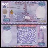 = RWANDA – 2 000 FRANCS - 2014 -  UNC =