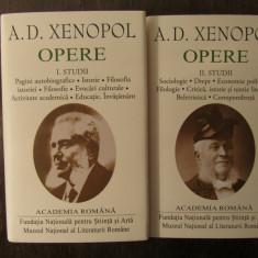 A.D. XENOPOL .OPERE( EDITIE DE LUX , ACADEMIA ROMANA , 2 VOL)