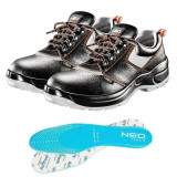 Cumpara ieftin Pantofi de lucru din piele, S1P, SRA, talpici/branturi, marimea 41, NEO