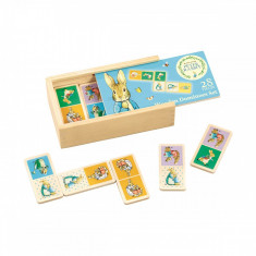 Joc din lemn Domino Peter Rabbit, 28 piese