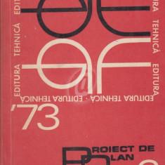 Proiect de plan editorial pe anul 1973. Exemplar de lucru