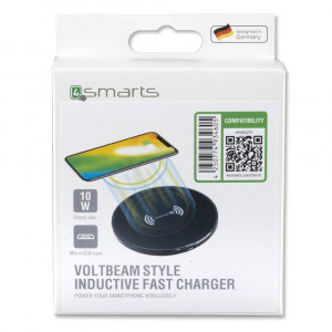 Incarcator Universal Inductie 4smarts Inductive Fast Charger VoltBeam Style 10W Negru