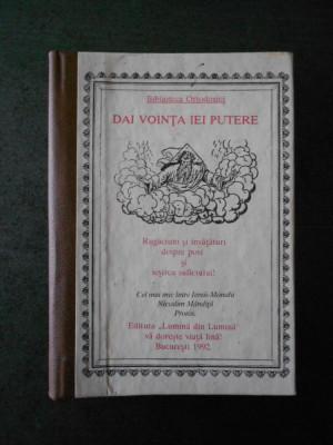 NICODIM MANDITA - DAI VOINTA, IEI PUTERE (1992, cartonata) foto