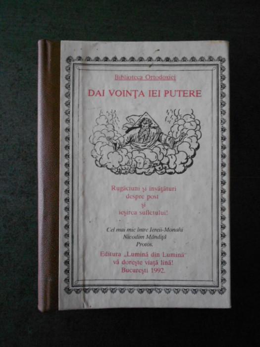NICODIM MANDITA - DAI VOINTA, IEI PUTERE (1992, cartonata)