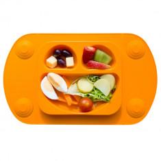Farfurie autodiversificare portabilă Easymat Mini Portocaliu