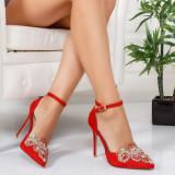 Pantofi Nomeli rosii