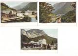 Baile Herculane 1905(aprox.) - Lot 4 litografii, spatele netipar