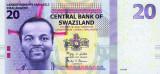 SWAZILAND █ bancnota █ 20 Emalangeni █ 2010 █ P-37a █ UNC necirculata