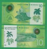 = NICARAGUA - 10 CORDOBAS – 2014 - UNC - POLYMER =