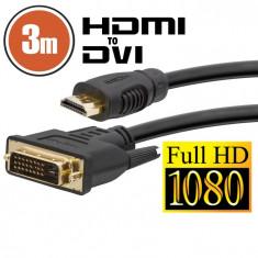 Cablu DVI-D / HDMI • 3 mcu conectoare placate cu aur Best CarHome