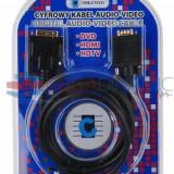 Cumpara ieftin Cablu DVI D tata (24+5) VGA tata 3 metri Cabletech KPO3702-3