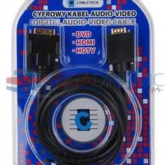 Cablu DVI D tata (24+5) VGA tata 3 metri Cabletech KPO3702-3